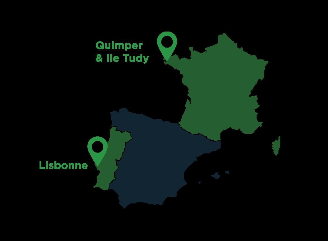 Localisation Génération Quimper Lisbonne